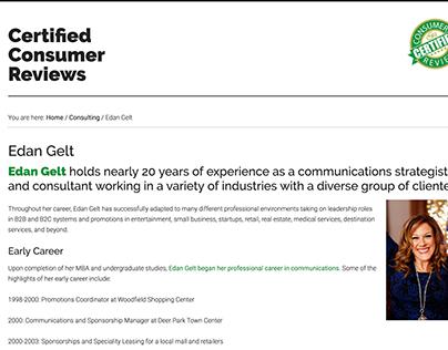 Certified Consumer Reviews - Eden Gelt