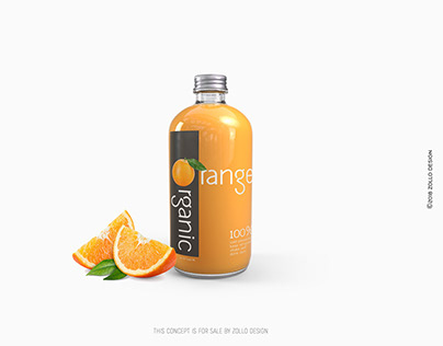 Orange Juice Bottle design by Zollo.Design