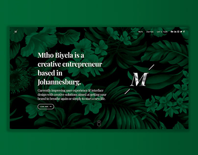 Mtho Biyela — Rebranding Concept