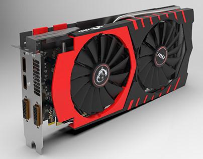 Nvidia MSI GTX 970 3D modeling