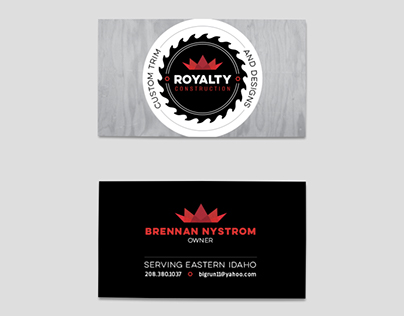 Royalty Construction Logo + Branding