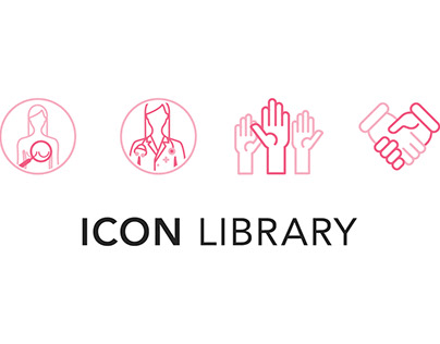 Breast Cancer Charity Icon Library
