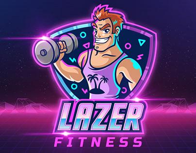 Lazer Fitness Retro Logo