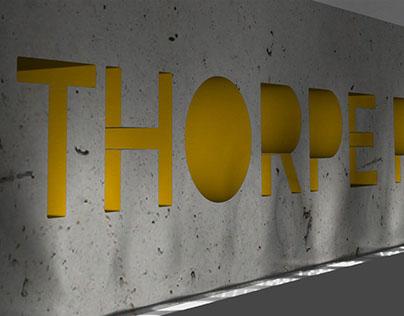 Thorpe Park Concept Signage Design