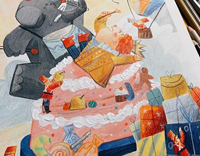 Illustrations for children's poetry