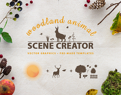 Woodland Animal Scene Creator Kit