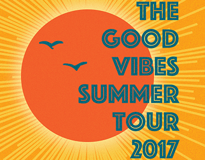 "Poster concepts for ""The Good Vibes Summer Tour""."