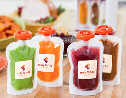 Truly Foods - Logo and Quick-Stick Label