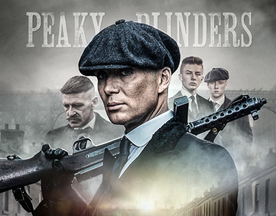 Peaky Blinders poster compositing