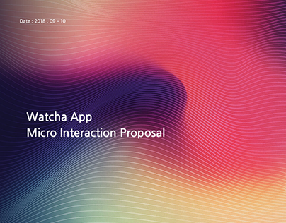 Watcha App Microinteraction proposal