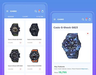 Casio online shopping concept Ui design