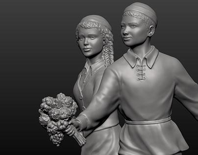 Sculptural Composition - details - The Lower Pair #4