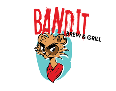 Bandit Brew and Grill Branding