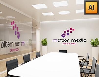 M Letter Logo - Meteor Media Logo