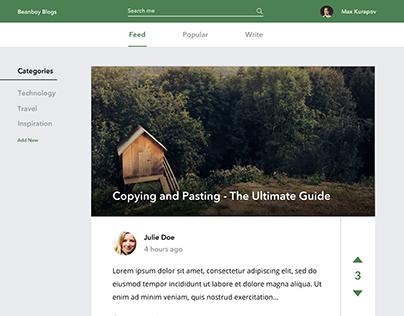Blogging Platform UI