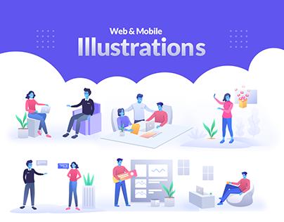 Illustration pack for web & Mobile Applications
