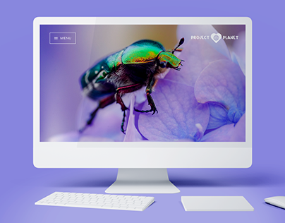 Project Planet Landing Page UI