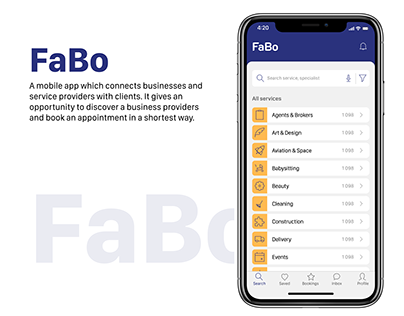 UX UI for B2C app FaBo