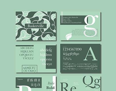 Type Cards Design 字体卡片设计