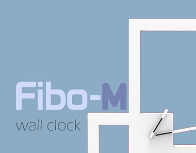 Fibo-M-wall clock design