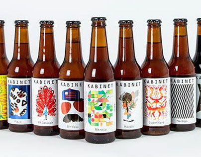 Beer Label Illustration for Kabinet Brewery