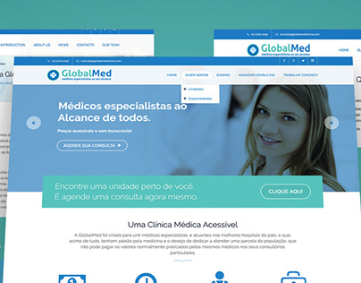 GlobalMed`s new website layout