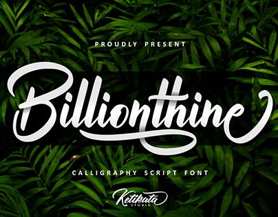 Billionthine Callygraphy script free