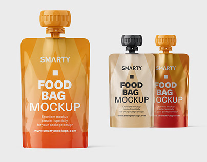 Food pouch mockups
