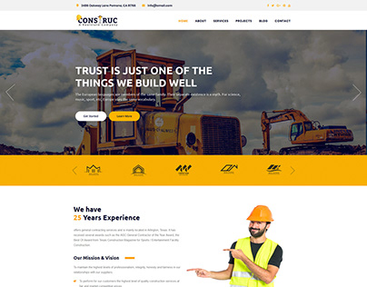 Consturction WordPress Theme