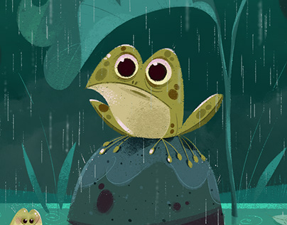 The frog in the pond!