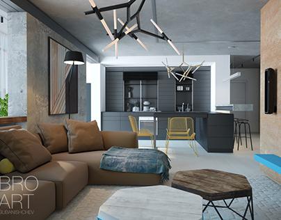 Living apartments 60sq.m