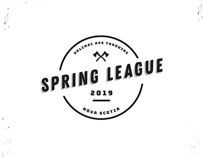 Branding: HaliMac Axe Throwing Spring League