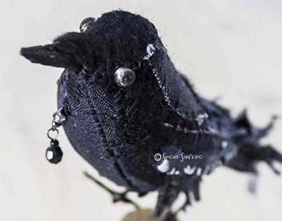 - Handmade Fabric Birds -