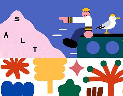 salt-ho newsletter illustration