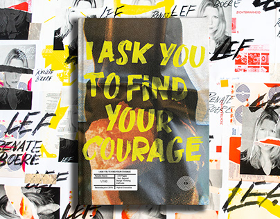 """Book cover design: """"I ask you to find your Courage"""""""