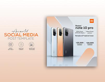 Social media animated banner design for mobile phone