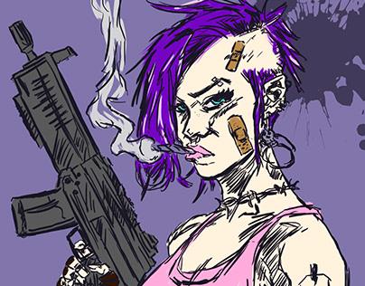 Punk Girls Art