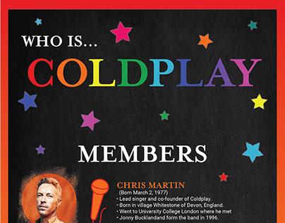 Coldplay Album Infographic