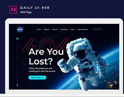 Daily Ui #008 _ 404 Page