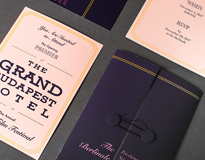 The Grand Budapest Hotel Invitations