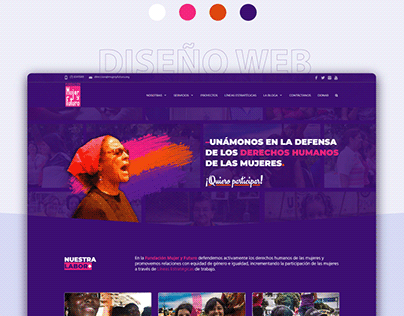 Diseño web Fundación Mujer y Futuro