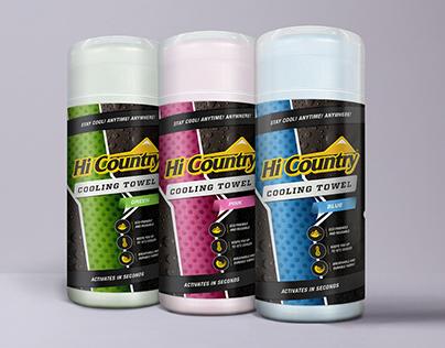 Hi-Country® Cooling Towel Packaging