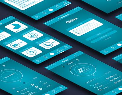UX / UI for Qilive smartband  application