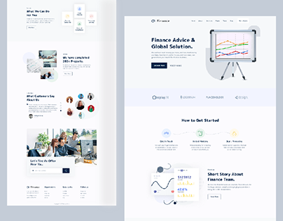 Finance Consulting Landing Page