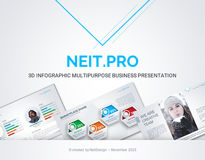 Neit.Pro 3D Infographic Multipurpose Business PPT