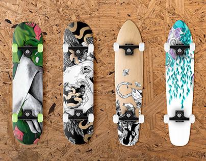 Skateboard design.