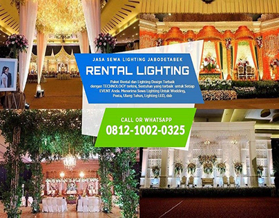 PROMO!! WA 0812-1002-0325 - Sewa Peralatan Lighting Wed