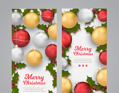 Christmas Banners I | Designed for Freepik