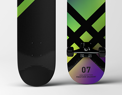 Gradient skateboard collection