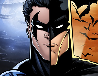 Batman Nightwing Face Off